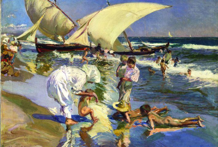 Playa de Valencia. Luz de la mañana. 1908. Óleo sobre lienzo. 77x106,5 cm. The Hispanic Society of America, Nueva York