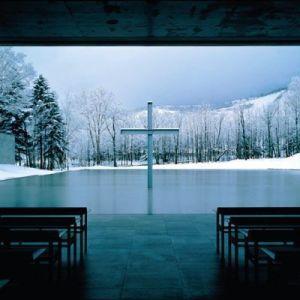 Iglesia sobre el agua de tadao ando
