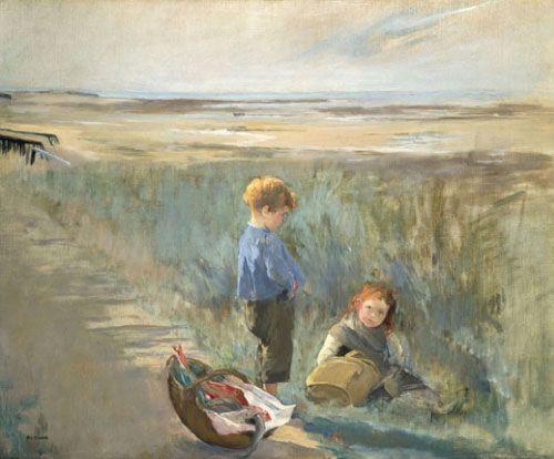 Eva Gonzalès, Dos niños jugando en las dunas, 1880