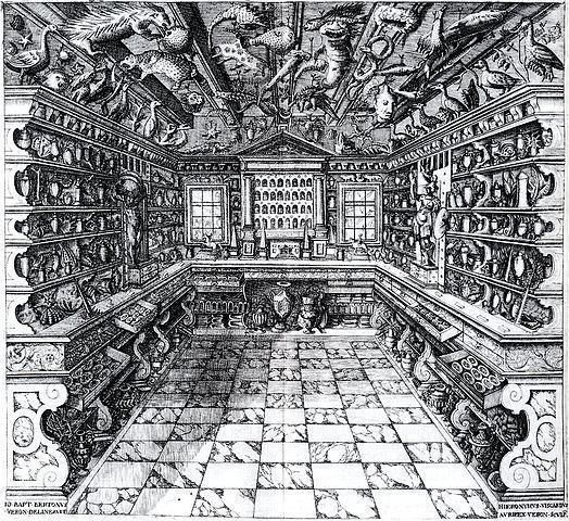 Francesco Calzolari, Gabinete de curiosidades, 1622, Verona.