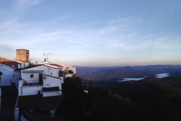 Vista de Zufre, Huelva.