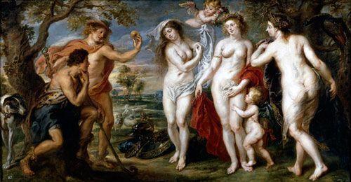 Rubens, Juicio de Paris, 1639, Museo del Prado, Madrid.