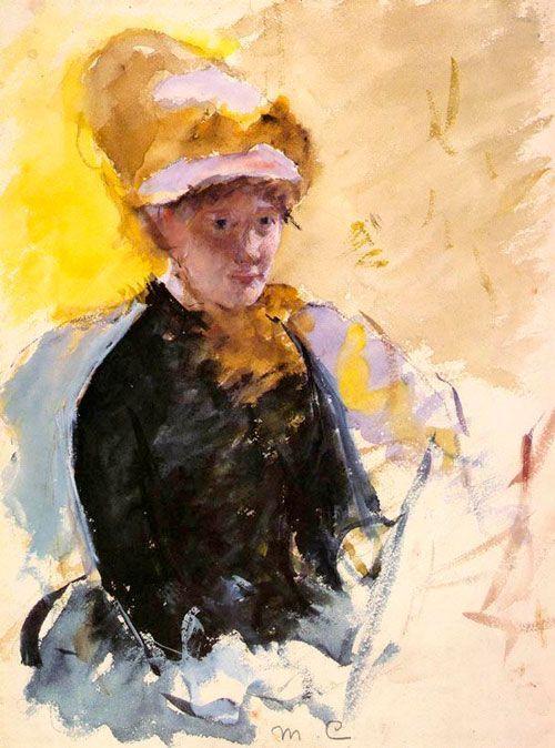 Mary Cassatt, Autorretrato, 1880-1884