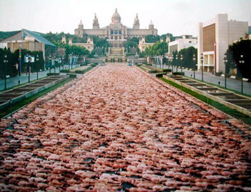 Spencer Tunick, Barcelona.
