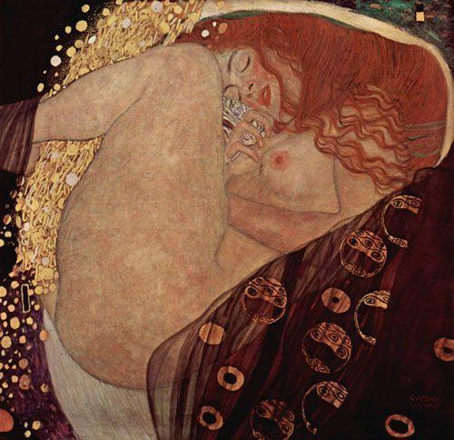 Klimt, Dánae, 1907, Galería Würhle, Viena