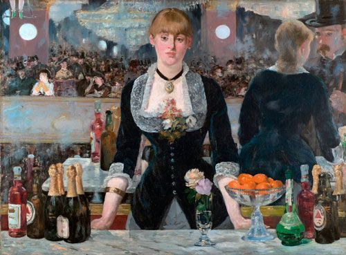 Manet, Un bar en el Folies-Bergére, 1882-1883, Courtauld Gallery, Londres.