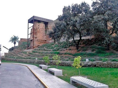 Torres en la muralla norte