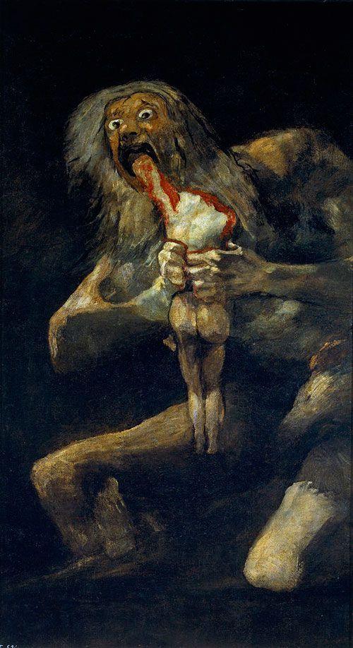 Goya, Saturno devorando a uno de sus hijos, 1819-23, Museo del Prado.