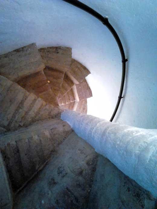 Torre Umbría, escalera de caracol