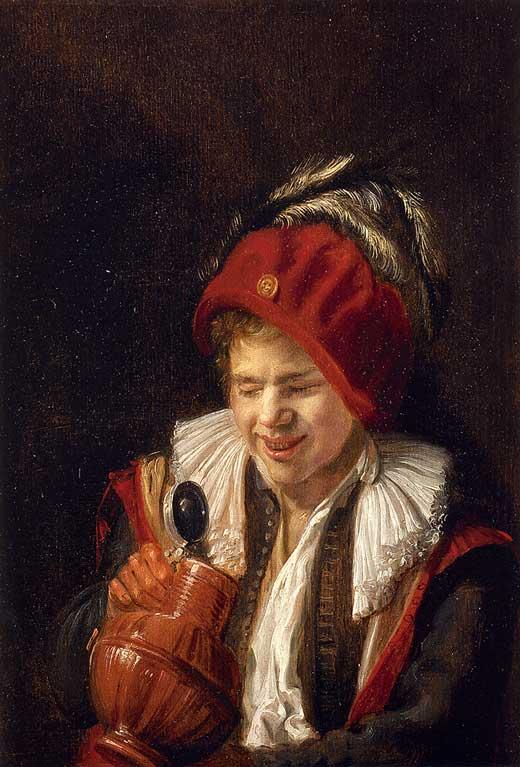 Judith Leyster, Retrato de joven con jarra, 1633, Colección privada
