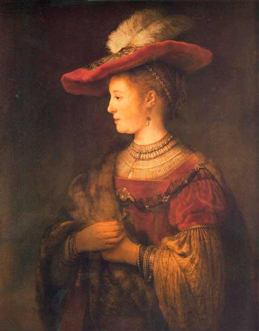 Retrato de Saskia con sombrero
