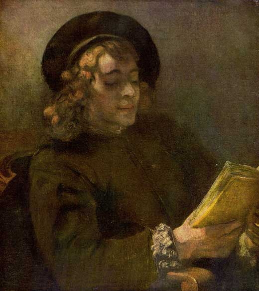 Retrato de Titus leyendo