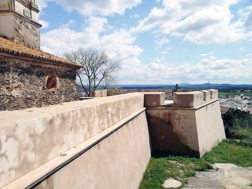 Baluarte y cortina, Fuerte de Paymogo.