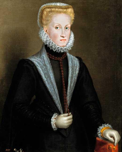 Sofonisba Anguissola, La reina Ana de Austria, 1573, Museo del Prado.
