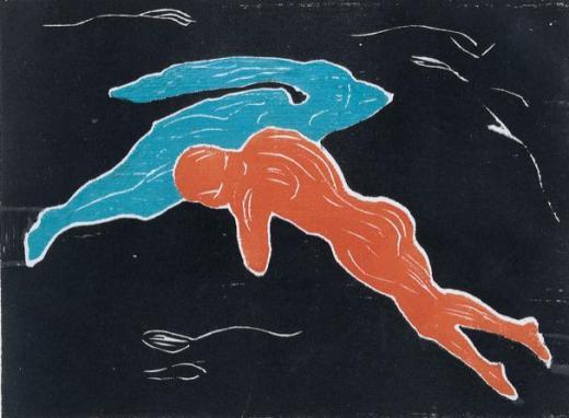 Edvard Munch, Encuentro en el espacio, 1899, Museo Thyssen-Bornemisza, Madrid.