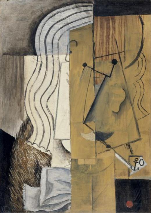 Picasso, Cabeza de hombre, 1913-14, Museo Thyssen-Bornemisza, Madrid.