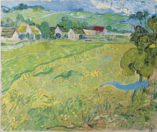 Vincent van Gogh, Les Vessenots à Auvers, Museo Thyssen-Bornemisza, 1890, Madrid.