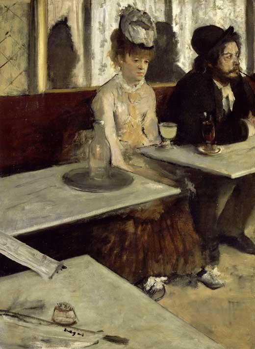 Edgar Degas, Los bebedores de absenta, 1876, Museo de Orsay, París.