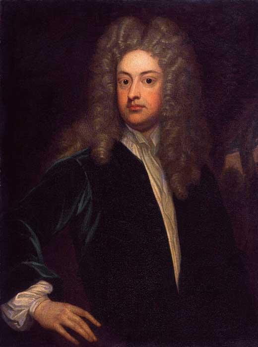 Retrato de Joseph Addison realizado por Godfrey Kneller, 1703-12