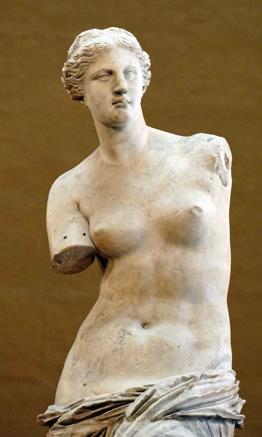 Venus de Milo, 130-100 a. C., Museo del Louvre, París.