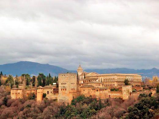 Vista de la Alhambra de Granada.