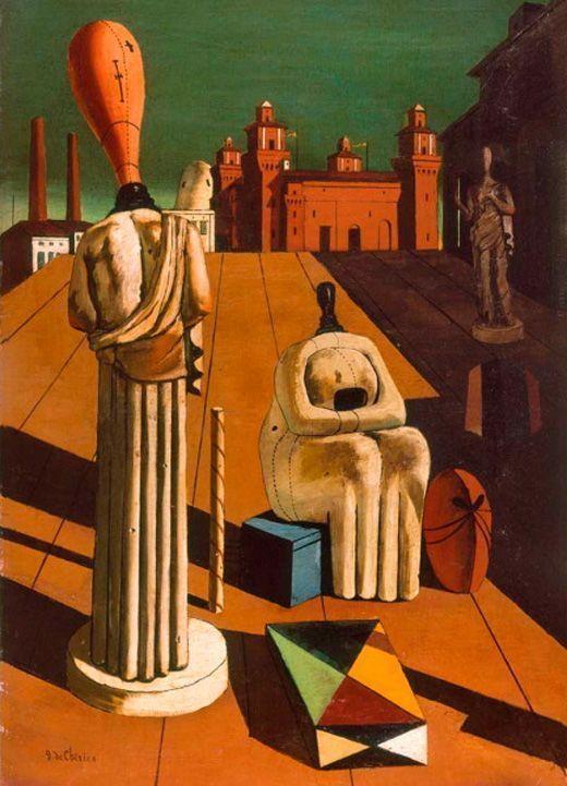 Giorgio de Chirico, las musas inquietantes, 1918, Colección privada.