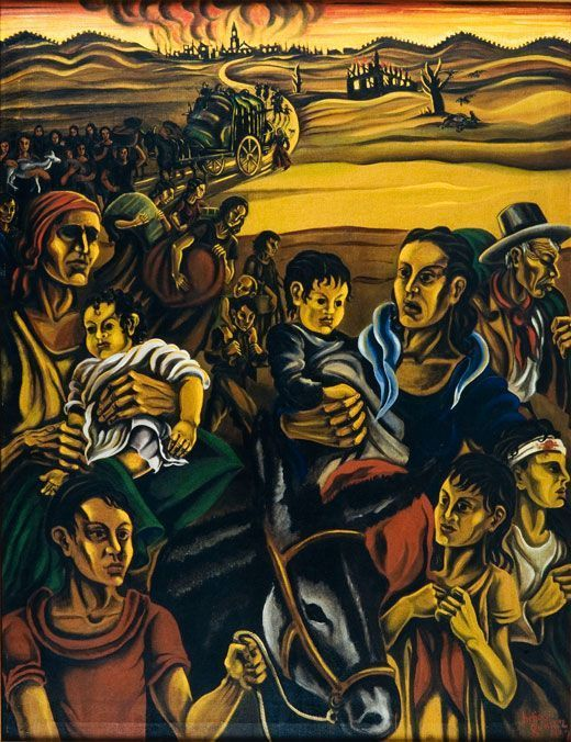 Helios Gómez, Evacuación, 1937, Museo Nacional Centro de Arte Reina Sofía, Madrid.
