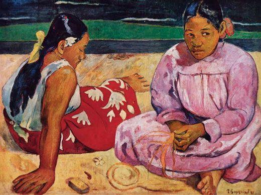 Paul Gauguien , Femmes de Tahiti, 1891, Museo de Orsay, París.