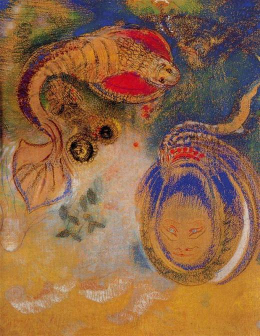 Odilon Redon, Animales del fondo del mar, c. 1916, New Orleans Museum of Art.