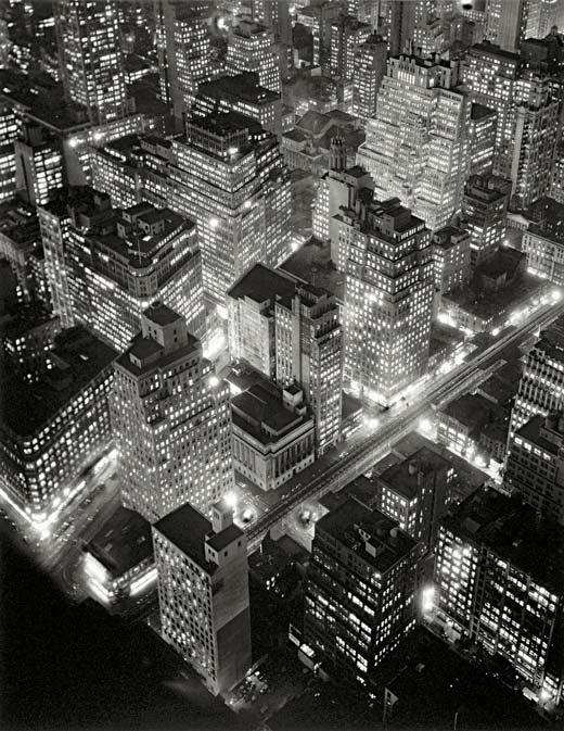 Fotografía aérea de Nueva York realizada por Berenice Abbott