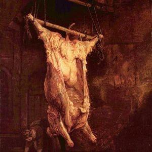 Pintura El Buey Desollado de Rembrandt