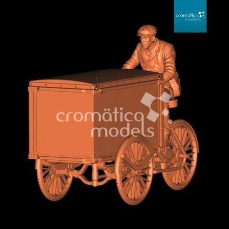 CM-35016 Delivery tricycle with Civil rider and closed cargo box