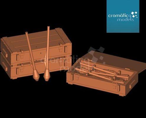 Cromätica Models 35023 :: Panzerfaust crates