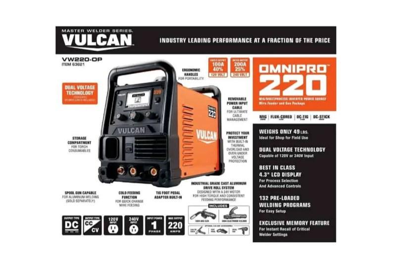 Vulcan Omnipro 220 Welder Review A