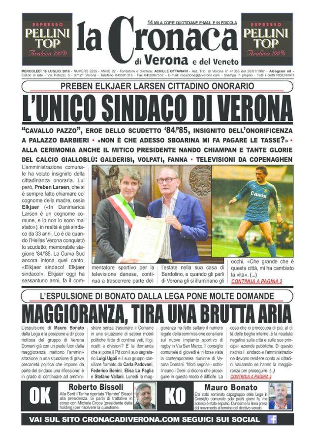 thumbnail of LA CRONACA DI VERONA 18 LUGLIO 2018 OK