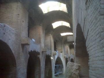 L'interno dell'Anfiteatro Flavio