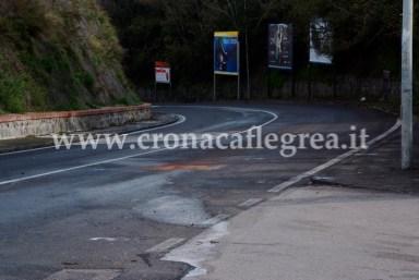 Un tratto di via San Gennaro Agnano