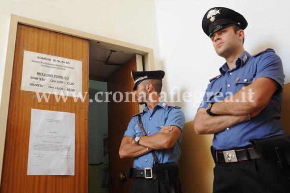 I carabinieri all'interno del Comune di Quarto