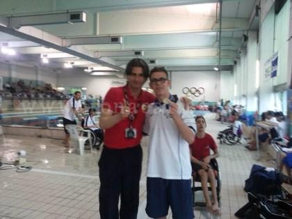 Salvatore D'Urso insieme al suo istruttore Luca Del Giudice