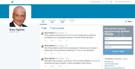 La pagina Twitter di Vincenzo Figliolia