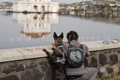 Due amici che guardano il lago