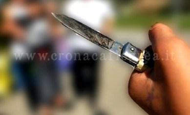 L'aggressore era in possesso di coltello di 20 cm
