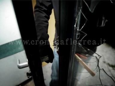 Il furto è stato messo a segno ai danni di un centro di estetica a Baia