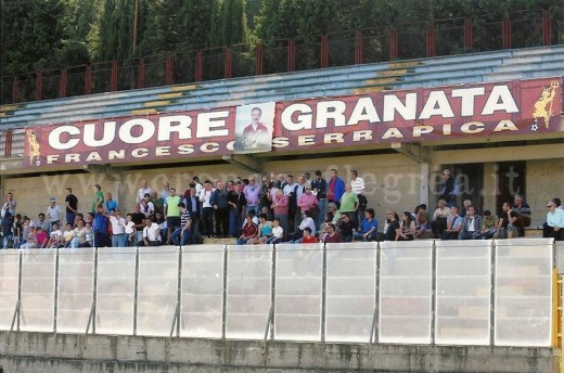 """I tifosi del Club Cuore Granata allo stadio """"Conte"""""""
