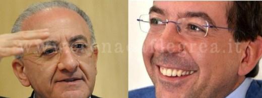 Il presidente della regione Vincenzo De Luca e l'onorevole Massimiliano Manfredi