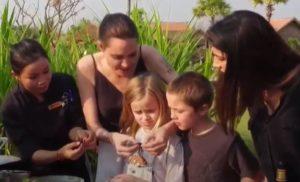 Angelina Jolie cucina e mangia tarantole, Harrison Ford rischia la strage