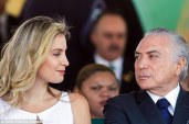 Brazilian President Michel Temer (right) has moved out of Alvorada Palace in Brasilia with wife Marcela