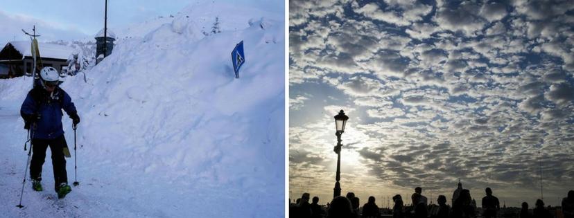 Meteo, gennaio pazzo: neve e valanghe al nord, caldo record a Roma e Palermo