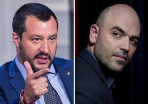 """Salvini: """"Scorta Saviano? Valutiamo se gli serve"""". Lo scrittore ribatte: """"Buffone, sei ministro della malavita"""""""