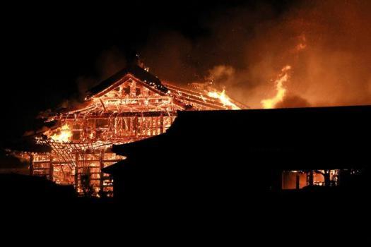 Giappone: incendio distrugge il castello Shuri di Okinawa, Patrimonio dell'umanità
